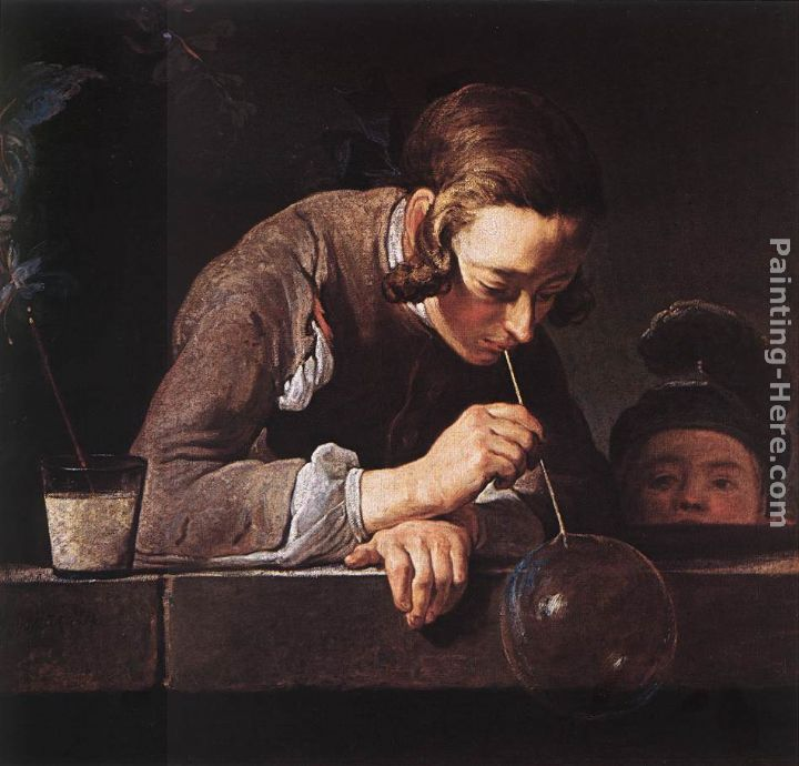 The Soap Bubble painting - Jean Baptiste Simeon Chardin The Soap Bubble art painting
