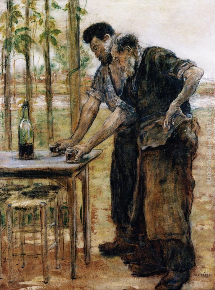 Blacksmiths taking a Drink painting - Jean Francois Raffaelli Blacksmiths taking a Drink art painting