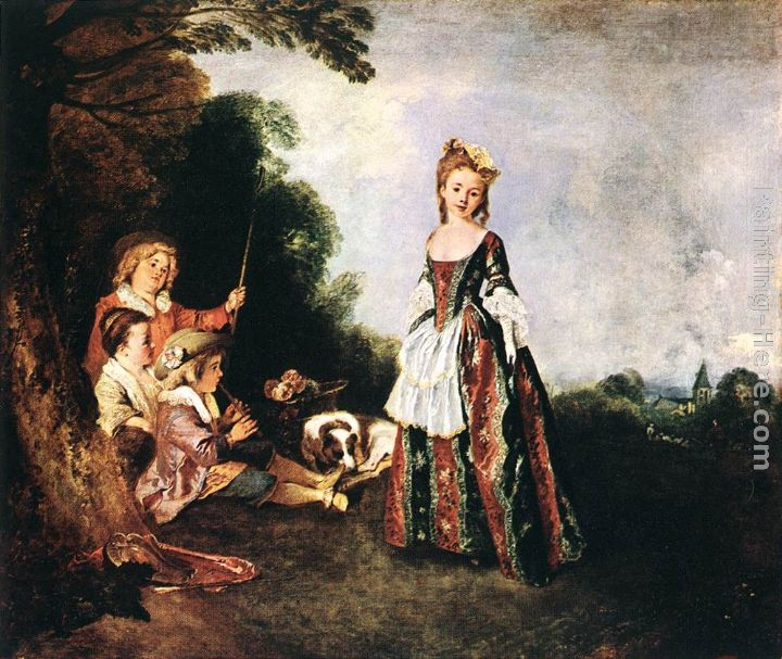 Jean-Antoine Watteau The Dance Art Painting