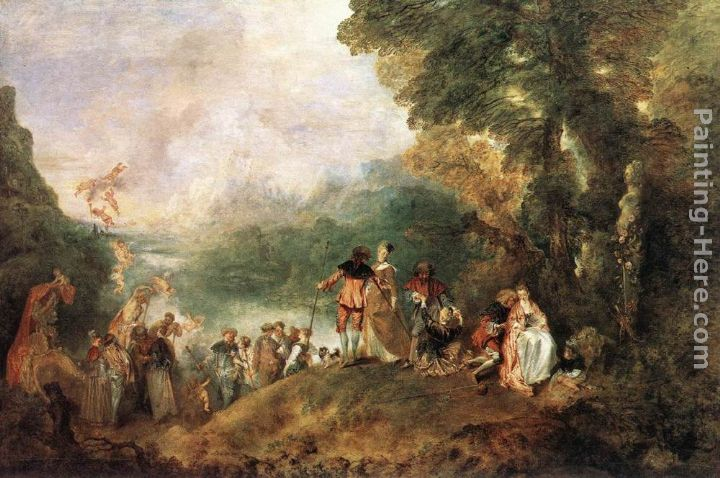The Embarkation for Cythera painting - Jean-Antoine Watteau The Embarkation for Cythera art painting