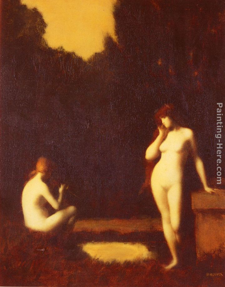Jean-Jacques Henner Idyll Art Painting