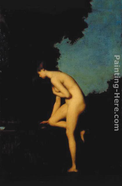 La Fontaine painting - Jean-Jacques Henner La Fontaine art painting