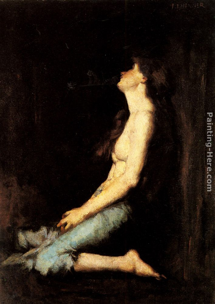 Jean-Jacques Henner Solitude Art Painting