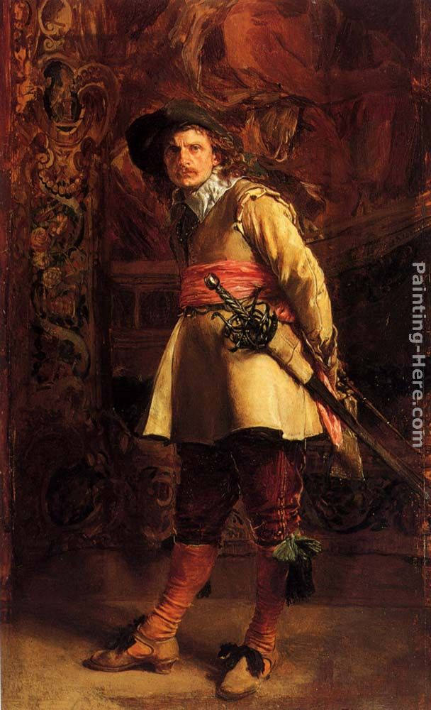 Musketeer painting - Jean-Louis Ernest Meissonier Musketeer art painting