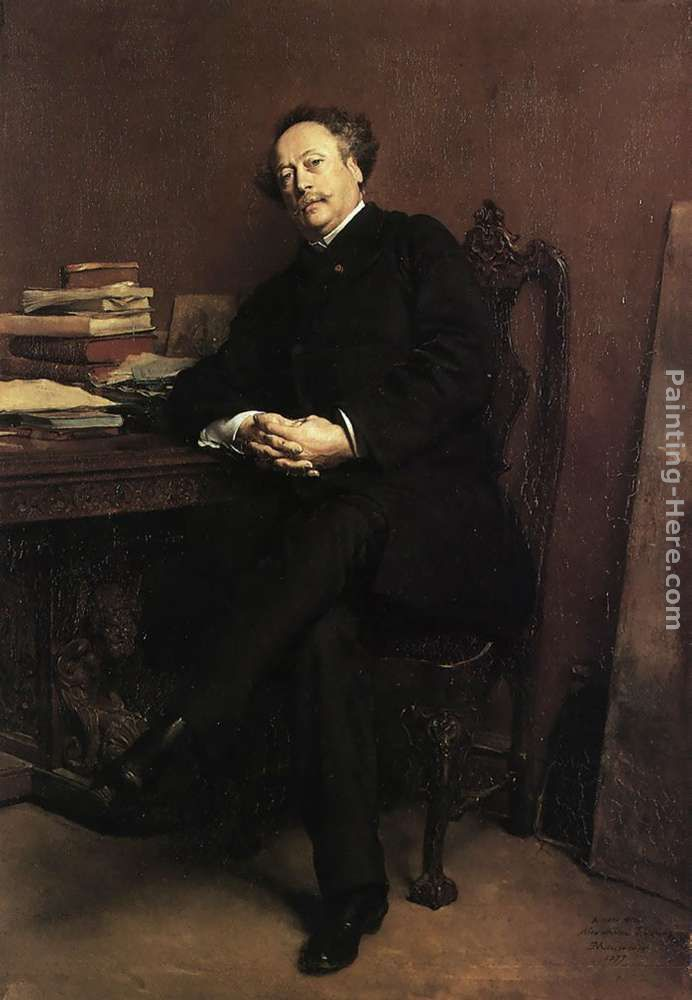Portrait of Alexandre Dumas, Jr painting - Jean-Louis Ernest Meissonier Portrait of Alexandre Dumas, Jr art painting