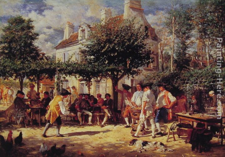 Sunday in Poissy painting - Jean-Louis Ernest Meissonier Sunday in Poissy art painting