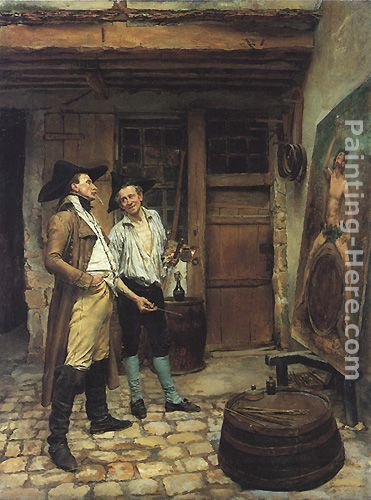The Sign Painter painting - Jean-Louis Ernest Meissonier The Sign Painter art painting