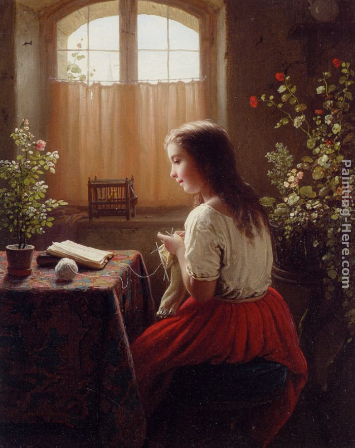 An Afternoons Amusements painting - Johann Georg Meyer von Bremen An Afternoons Amusements art painting