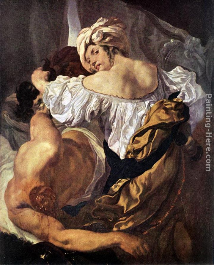 Judith and Holophernes painting - Johann Liss Judith and Holophernes art painting