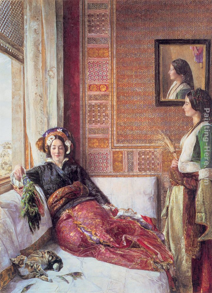 Harem Life in Constantinople painting - John Frederick Lewis Harem Life in Constantinople art painting