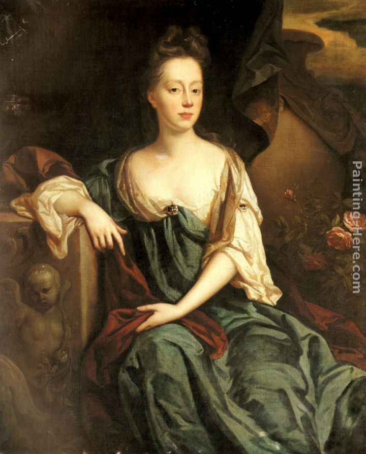 John Riley Portrait Of Anne Sherard, Lady Brownlow (1659-1721) Art Painting