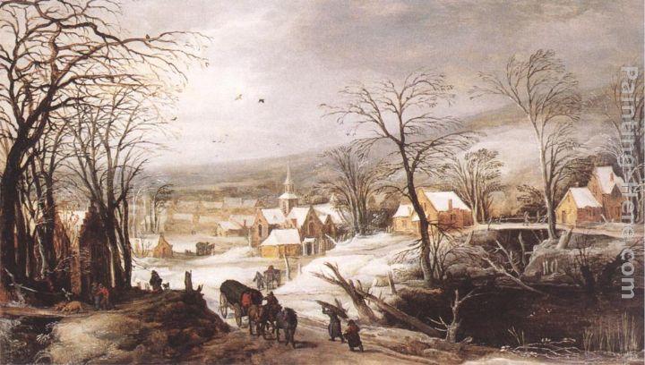 Joos De Momper Winter Landscape Painting Anysize 50 Off