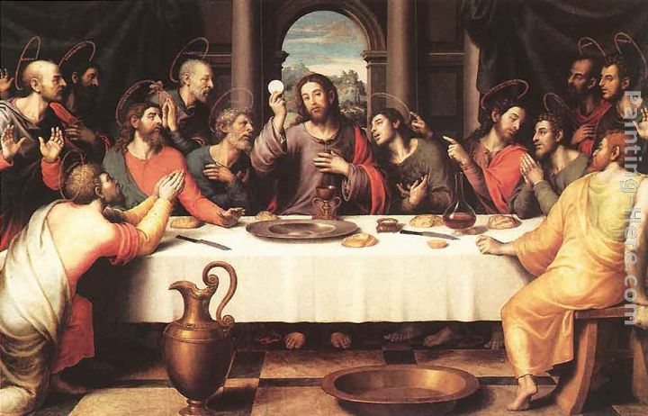 Juan de Juanes The Last Supper Art Painting