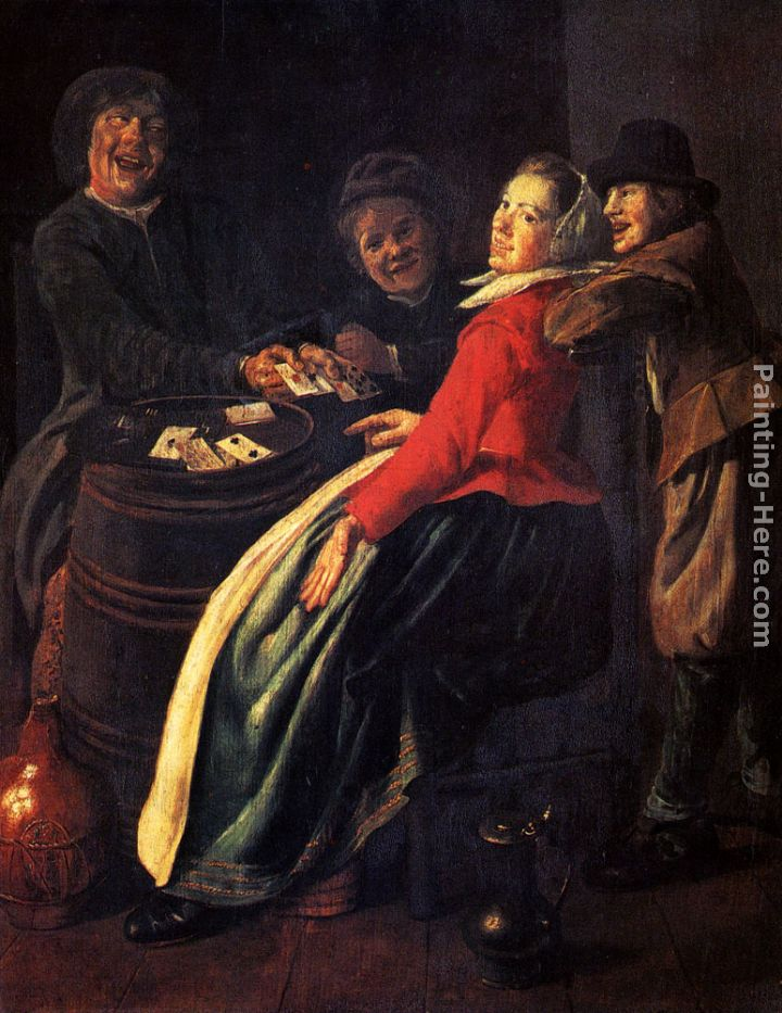 A Game Of Cards painting - Judith Leyster A Game Of Cards art painting