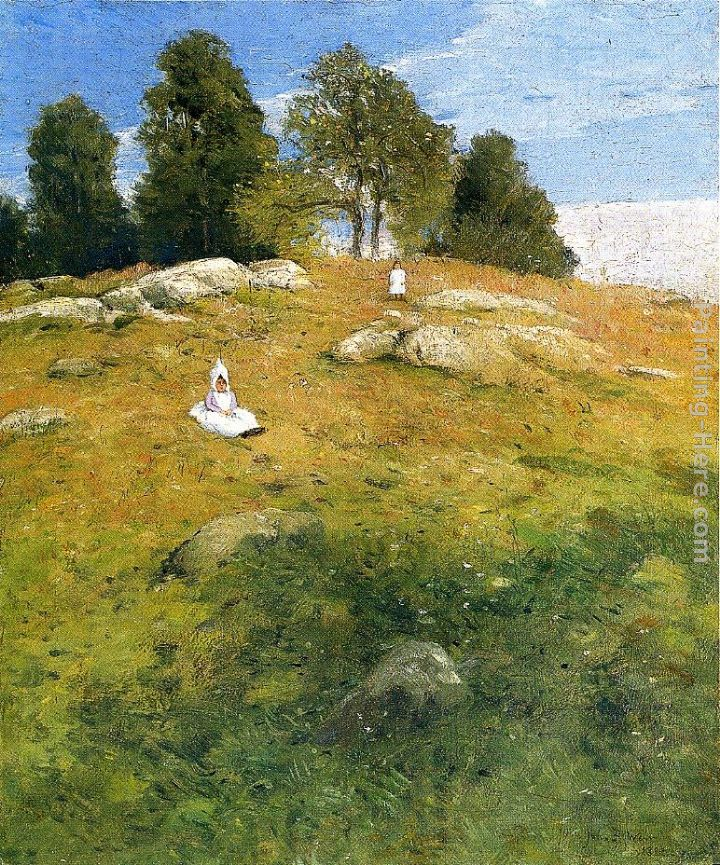 Summer Afternoon, Shinnecock Landscape painting - Julian Alden Weir Summer Afternoon, Shinnecock Landscape art painting