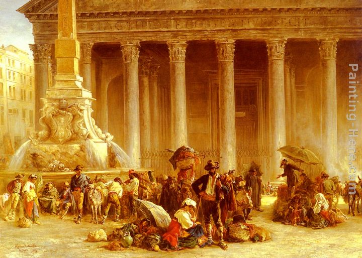 Keeley Halswelle The Quack Doctor Of The Piazza Rotonda, Rome Art Painting