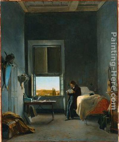 The Artist in His Room at the Villa Medici, Rome painting - Leon Cogniet The Artist in His Room at the Villa Medici, Rome art painting
