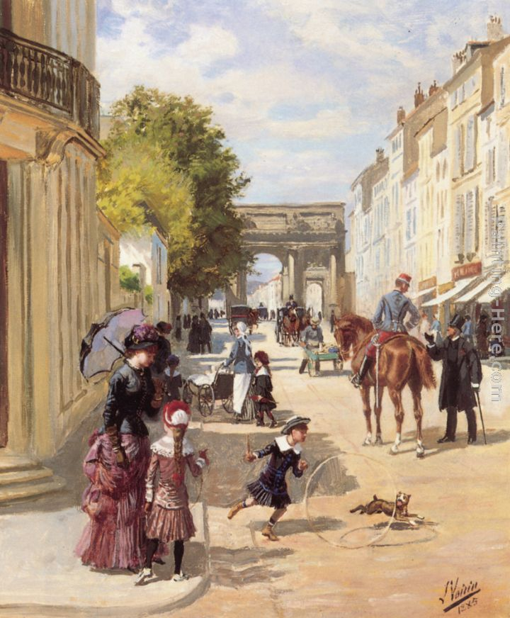 A Summer's Day, Nancy painting - Leon Joseph Voirin A Summer's Day, Nancy art painting