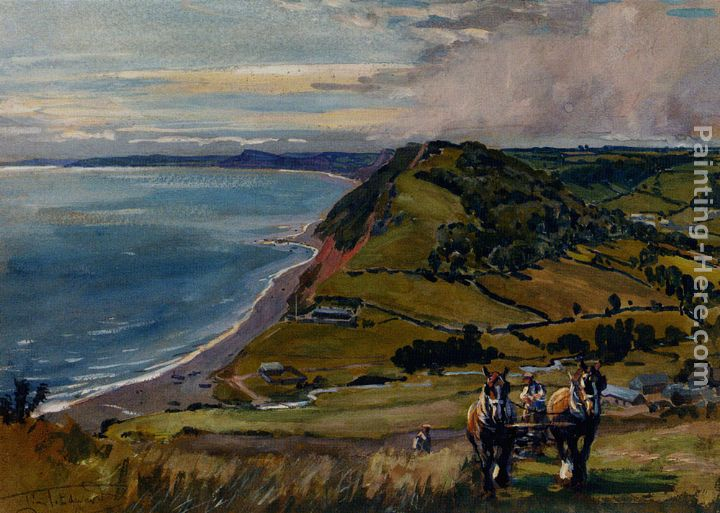 Lionel Edwards Along The Dorset Coast Art Painting