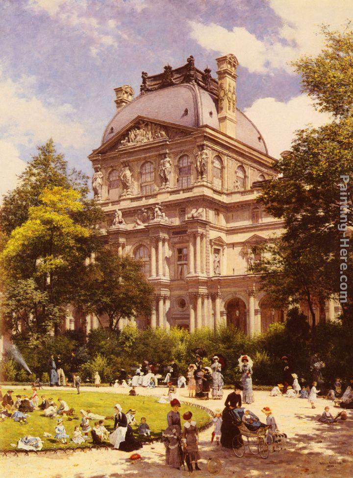 Louis beroud les jardins du carrousel et le pavillon for Le jardin hivernal du off paris seine