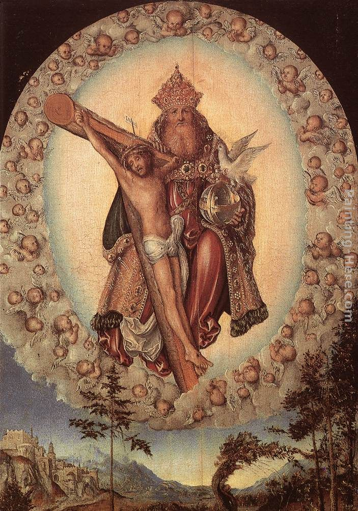 Lucas Cranach the Elder Trinity Art Painting