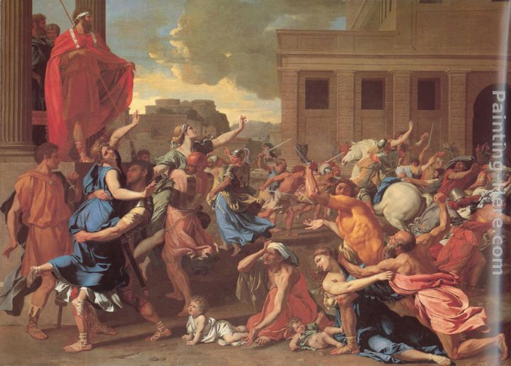 Nicolas Poussin The Rape of the Sabine Women Art Painting