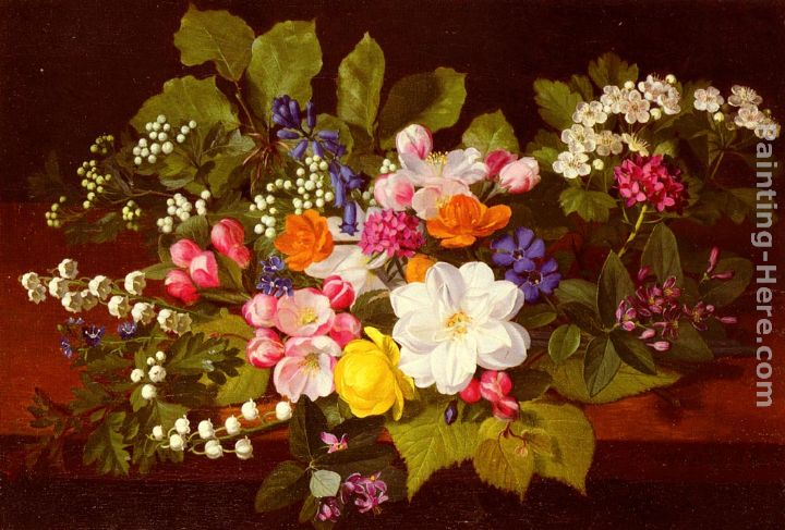Otto Didrik Ottesen A Bouquet Of Spring Flowers On A Ledge painting ...