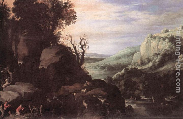 Landscape painting - Paul Bril Landscape art painting