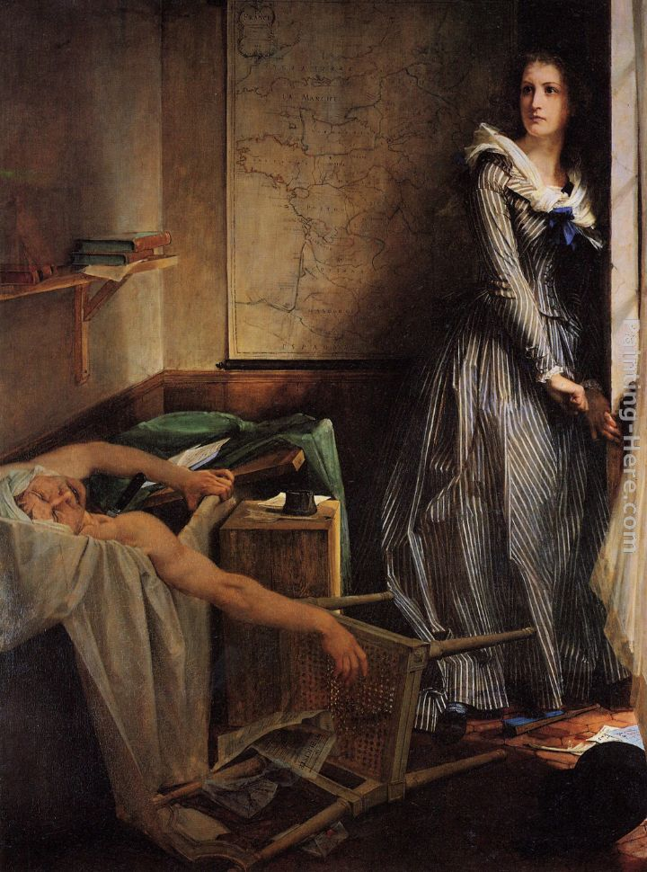 Charlotte Corday painting - Paul Jacques Aime Baudry Charlotte Corday art painting