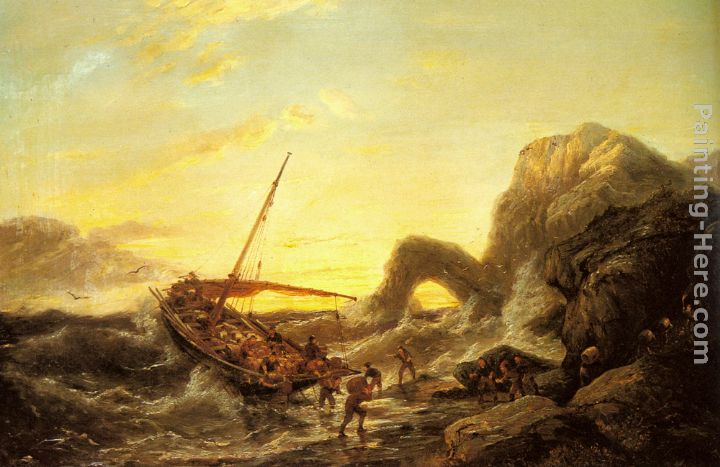 The Shipwreck painting - Pieter Christian Dommerson The Shipwreck art painting