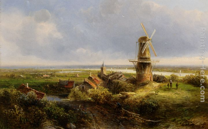 A Windmill in an Extensive Landscape
