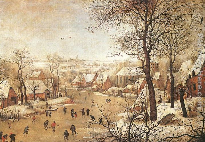 Winter Landscape with a Bird-trap