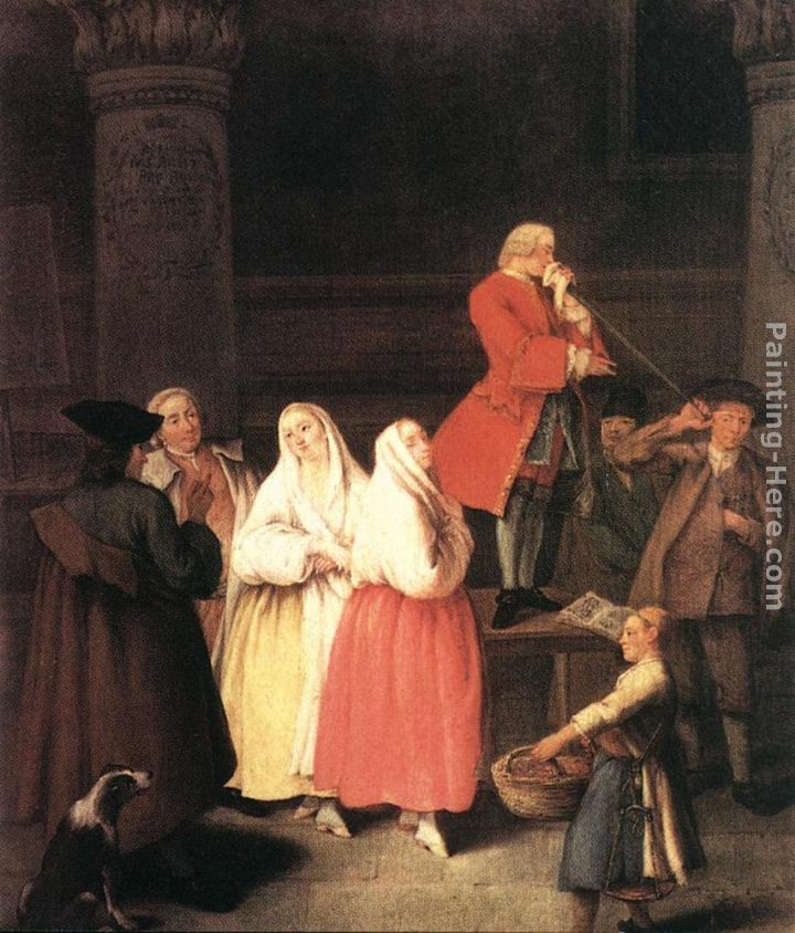 The Soothsayer painting - Pietro Longhi The Soothsayer art painting