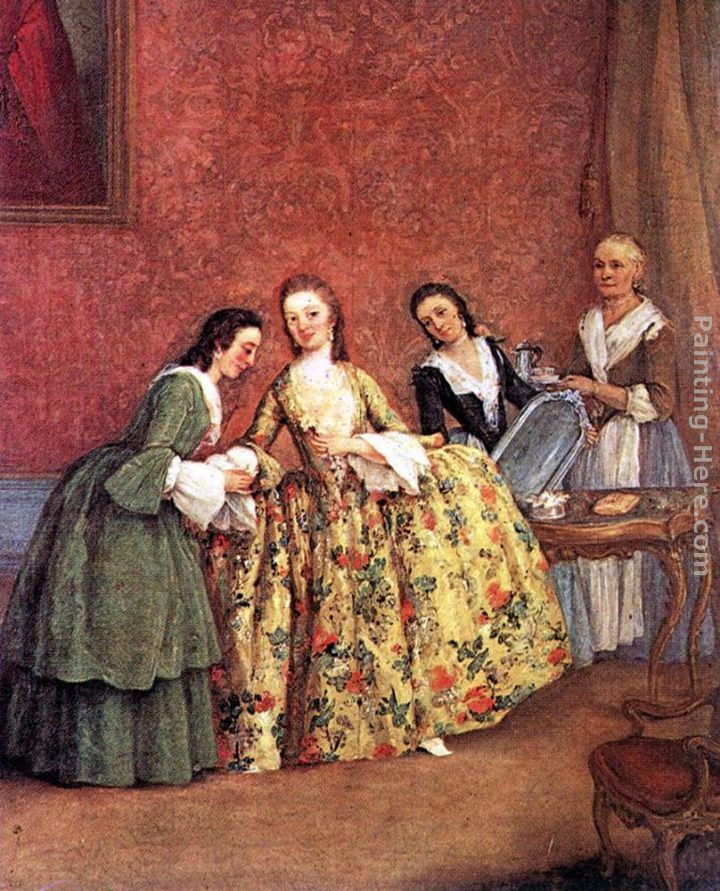 The Venetian Lady's Morning painting - Pietro Longhi The Venetian Lady's Morning art painting