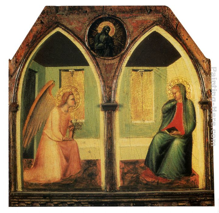 The Annunciation painting - Pietro Lorenzetti The Annunciation art painting