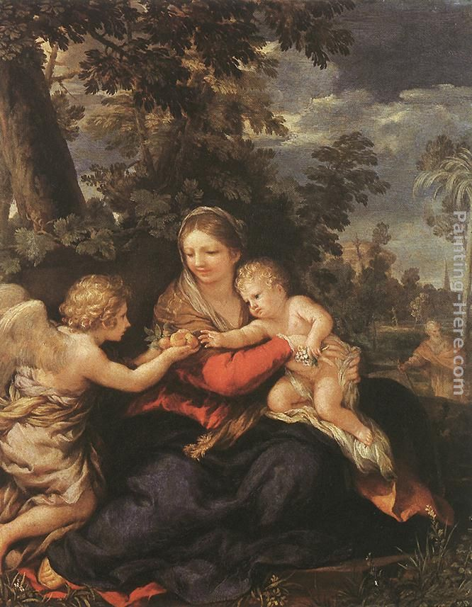 Holy Family Resting on the Flight to Egypt painting - Pietro da Cortona Holy Family Resting on the Flight to Egypt art painting