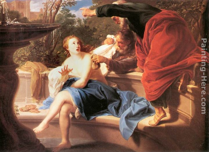 Susanna and the Elders painting - Pompeo Girolamo Batoni Susanna and the Elders art painting