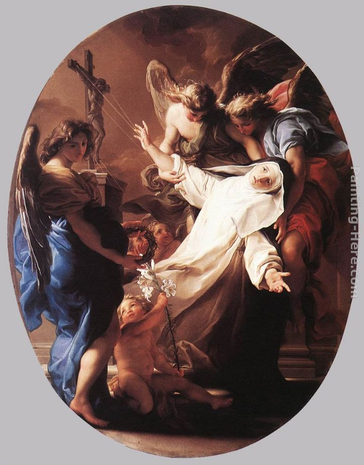 The Ecstasy of St Catherine of Siena painting - Pompeo Girolamo Batoni The Ecstasy of St Catherine of Siena art painting