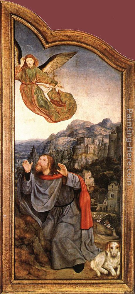 St Anne Altarpiece (left wing) painting - Quentin Massys St Anne Altarpiece (left wing) art painting