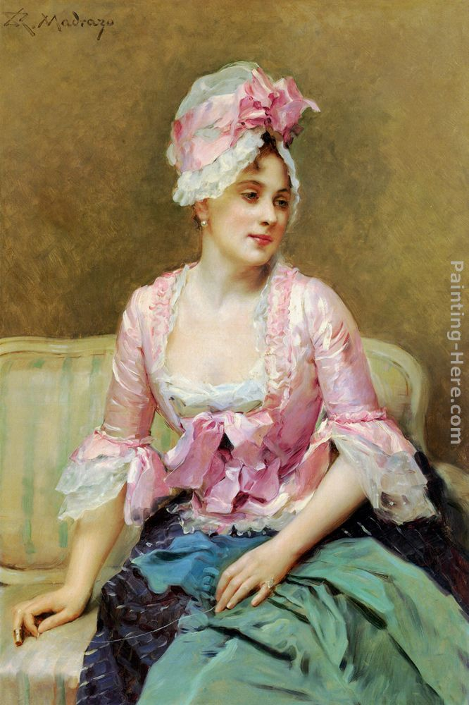 Portrait of Aline Mason painting - Raimundo de Madrazo y Garreta Portrait of Aline Mason art painting