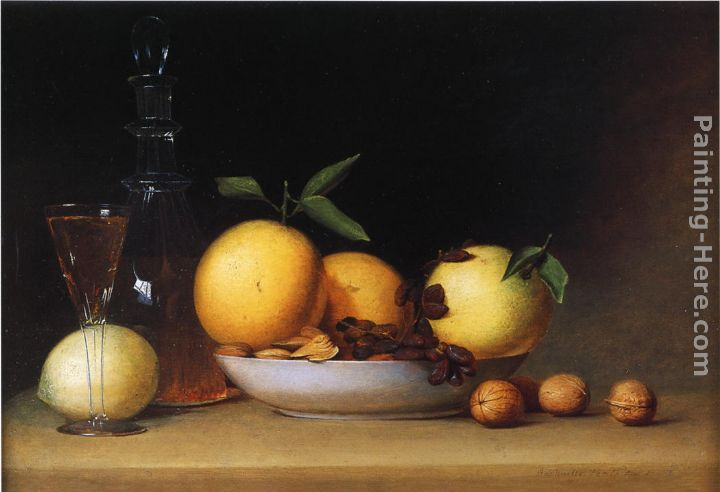 Still Life with Liqueur and Fruit painting - Raphaelle Peale Still Life with Liqueur and Fruit art painting