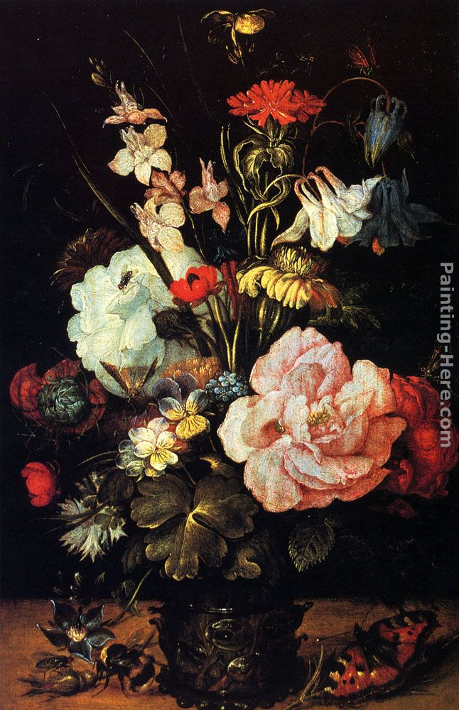 Flowers In A Vase painting - Roelandt Jacobsz Savery Flowers In A Vase art painting & Roelandt Jacobsz Savery Flowers In A Vase painting anysize 50% off ...