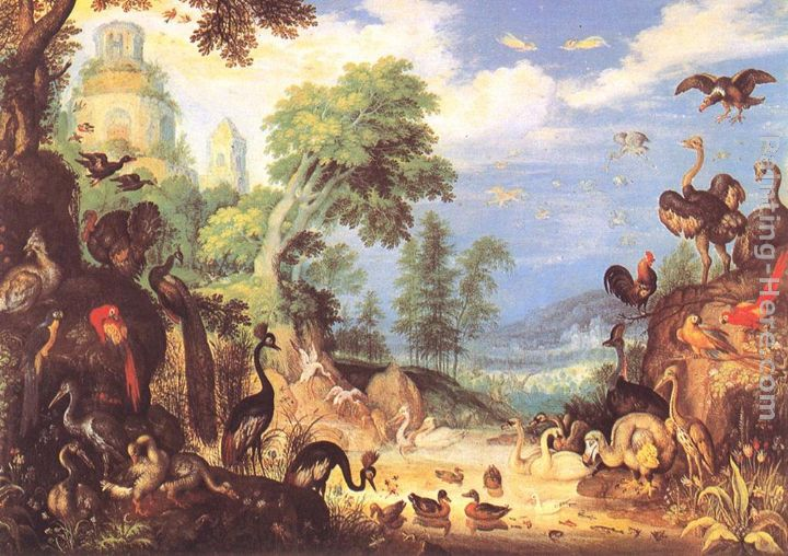 Landscape with Birds painting - Roelandt Jacobsz Savery Landscape with Birds art painting