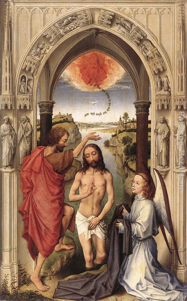 St John the Baptist altarpiece - central panel painting - Rogier van der Weyden St John the Baptist altarpiece - central panel art painting