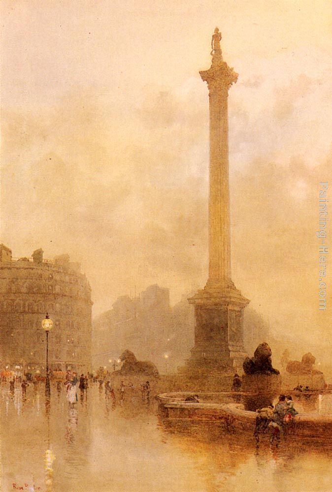 Rose Barton Nelson's Column In A Fog Art Painting