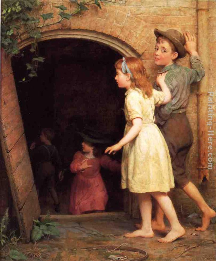 The Haunted Cellar (Who's Afraid) painting - Seymour Joseph Guy The Haunted Cellar (Who's Afraid) art painting