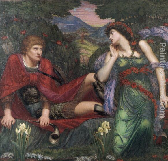 Sidney Harold Meteyard Venus and Adonis Art Painting