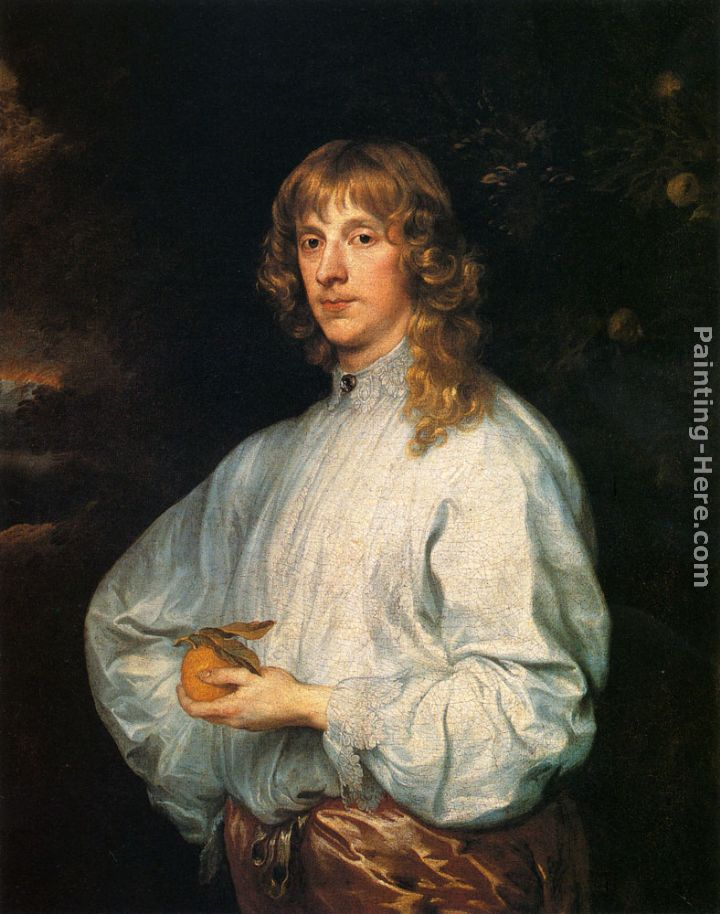 James Stuart, Duke Of Richmond And Lennox With His Attributes painting - Sir Antony van Dyck James Stuart, Duke Of Richmond And Lennox With His Attributes art painting