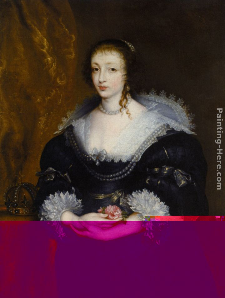 Portrait of Queen Henrietta Maria painting - Sir Antony van Dyck Portrait of Queen Henrietta Maria art painting