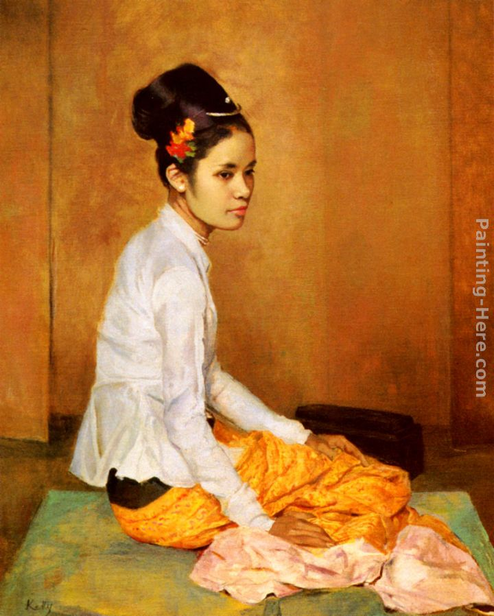 Sir Gerald Kelly Burmese Pearl Art Painting